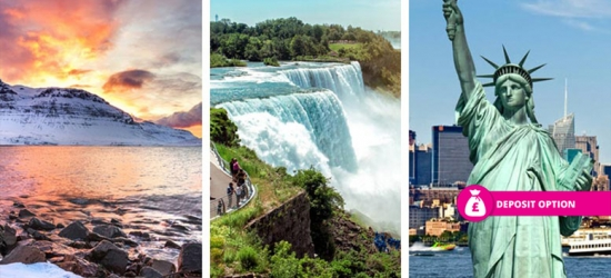 6-9nt Iceland, Niagara Falls & New York Trip, Flights & Transfers