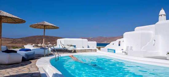 4* Mykonos retreat w/breakfast and flights