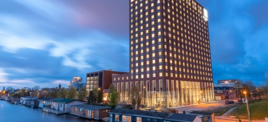 $ Based on 2 people per night | New Amsterdam stay in a modern waterfront base, Leonardo Royal Hotel, Netherlands