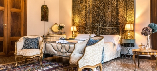 $ Based on 2 people per night | Decadent Venice palazzo stay near St Mark's Square, La Porta d'Oriente, Italy