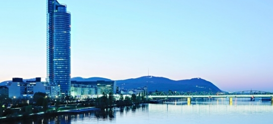 Based on 2 people per night | Modern Vienna stay with River Danube views, Harrys Home Vienna Millenium Tower, Austria