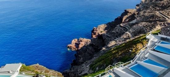 $ Based on 2 people per night | Luxurious volcano-view hotel on a Santorini cliff, Ambassador Aegean Luxury Hotel & Suites, Greek Islands