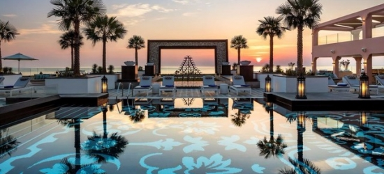 $ Based on 2 people per night   Art-inspired beach hotel in Dibba in the UAE, Fairmont Fujairah Beach Resort, UAE