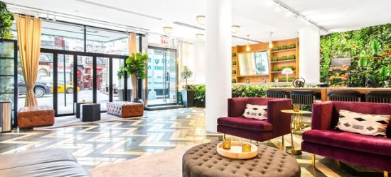 $ Based on 2 people per night | Sleek Hudson Yards pad with a rooftop garden, Cassa Times Square, New York