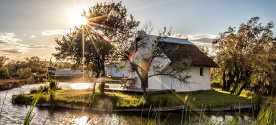 $ Based on 2 people per hut per night | Rustic French stay at a beautiful country retreat, L'Auberge Cavalière du Pont des Bannes, Camargue