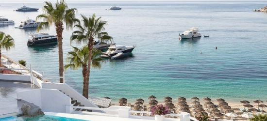 $ Based on 2 people per bungalow per night   5* Mykonos boutique hotel with private beach, Mykonos Blu, Greeks Islands