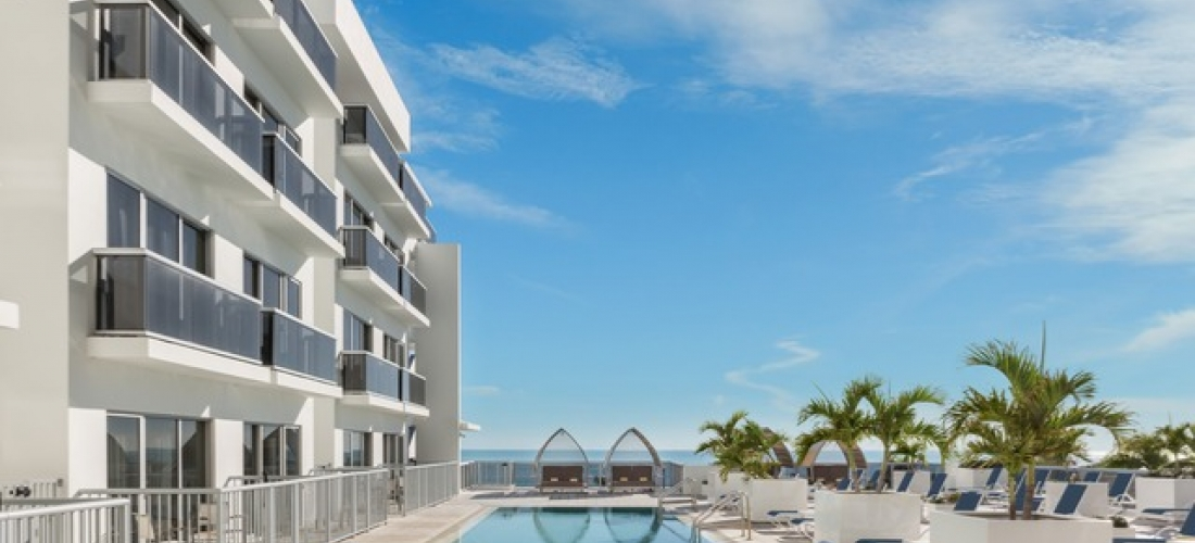 $ Based on 4 people per night | Luxe Miami beachfront stay on Collins Avenue, Hilton Cabana Miami Beach, Florida