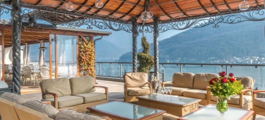 $ Based on 2 people per night | 5* Lugano hotel with lake & mountain scenery, Swiss Diamond Hotel & Spa, Switzerland