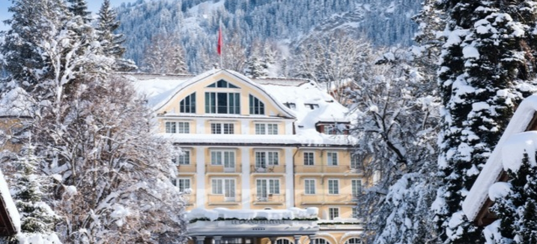 $ Based on 2 people per night | 5* Swiss alpine pad with Michelin-rated dining, Le Grand Bellevue, Gstaad