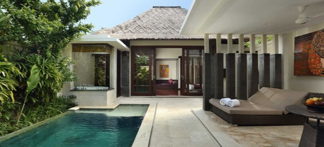 $ Based on 2 people per night   Tucked-away pool villa stay on Bali's east coast, Mahagiri Villas Sanur, Indonesia