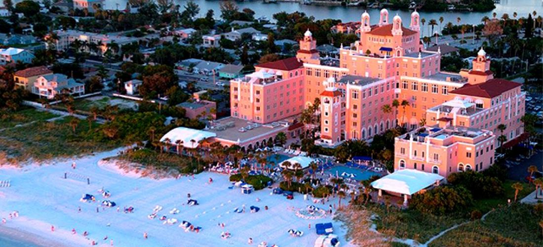 $ Based on 4 people per night   Legendary St. Pete Beach luxury hotel, The Don CeSar, Florida
