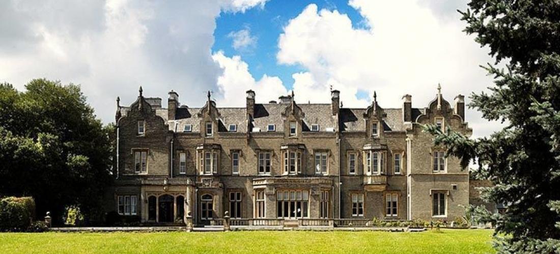 Hertfordshire Manor Break, 2-Course Dinner, Breakfast & Wine for 2
