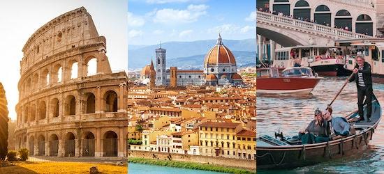 Rome, Florence & Venice: 4* Italy break w/breakfast & flights