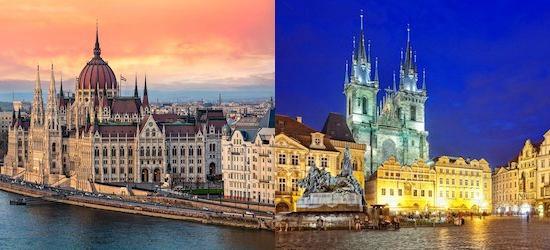 4* Budapest & Prague multi-centre city break w/breakfast & flights