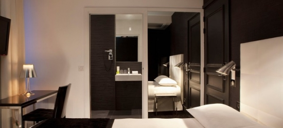 $ Based on 2 people per night | Elegant Paris stay with optional Eiffel Tower view, First Hotel Tour Eiffel, France