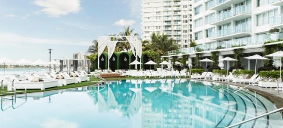 $ Based on 2 people per studio per night | Sleek South Beach design-led spa hotel, Mondrian South Beach, Florida