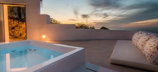 $ Based on 2 people per suite per night   Chic Santorini hotel with sea views & private Jacuzzi, Fava Eco Suites, Santorini, Greece