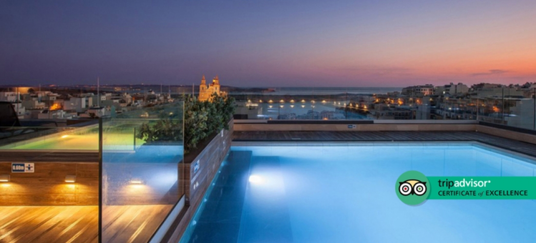 4* Luxury Malta Escape  - Rooftop Pool!