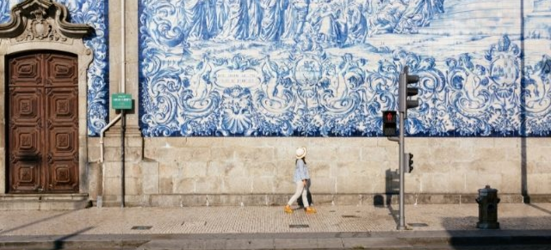 Tile art in Portugal's cities, Porto, Suntra and Lisbon, Portugal