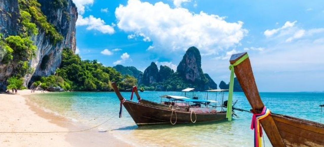 The best of beach and city in Thailand, Bangkok and Krabi, Thailand